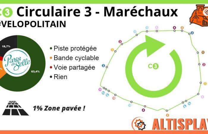 Circulaire C3 – Boulevards des Maréchaux horaire velopolitain