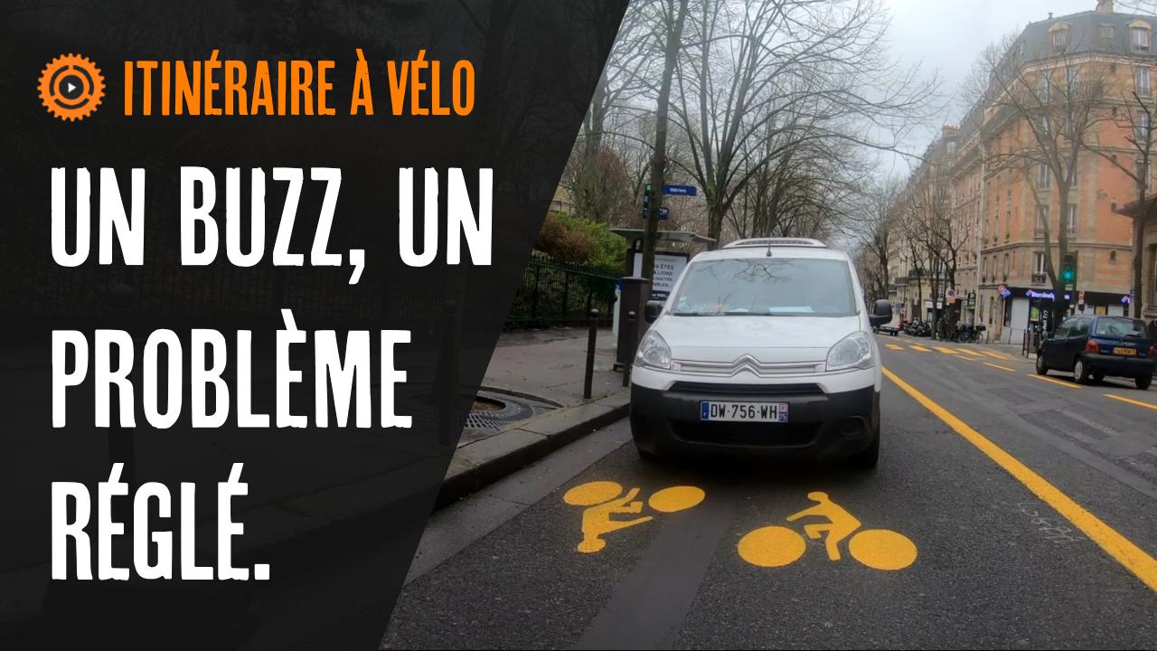 UN BUZZ 📺, UN PROBLÈME RÉGLÉ 🛠️ ((analyse de l'avenue Gambetta- itinéraire vélo, le retour)