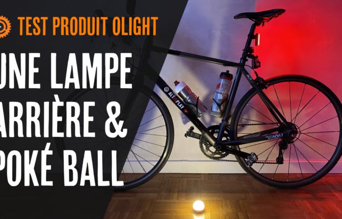 Une lampe arrière & poké ball🔮 (test produit Olight RN 180 TL + obulb rose)